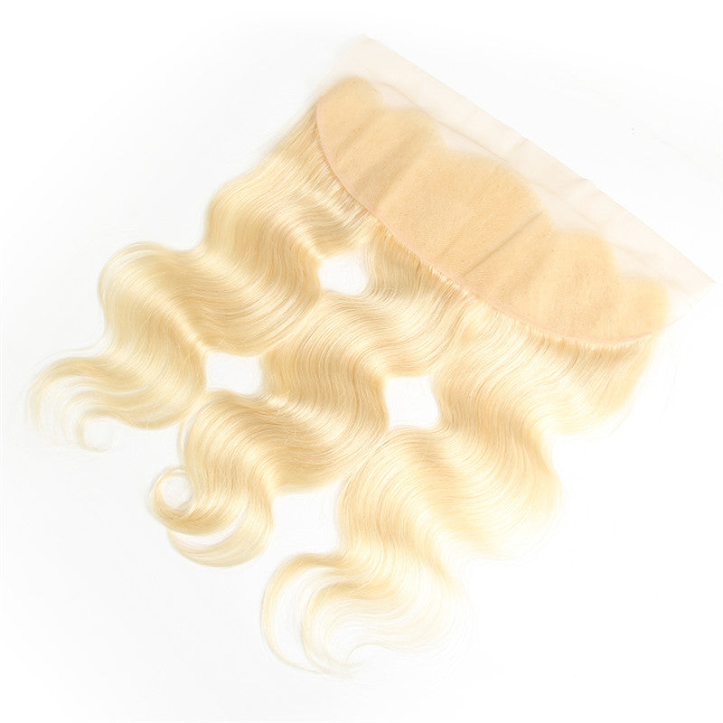 9A Virgin 613 Blonde Body Wave 13x4 Lace Frontal Closure Free Part