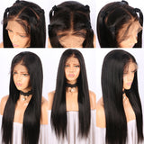 Straight Hair 360 Lace Frontal Wig 180% Density Pre Plucked With Baby Hair