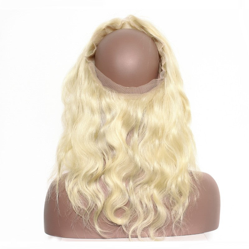 9A Virgin Body Wave 613 Blonde 360 Lace Frontal Closure Natural Hairline