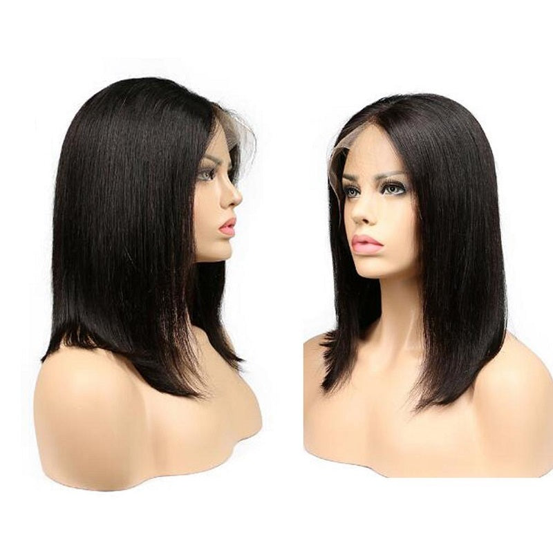Short Bob Straight 360 Lace Frontal Wig Human Hair Lace Front Wigs With Baby Hair