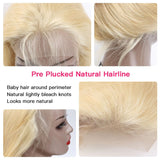 613 Blonde Body Wave 360 Lace Frontal Human Wig Pre Plucked With Baby Hair