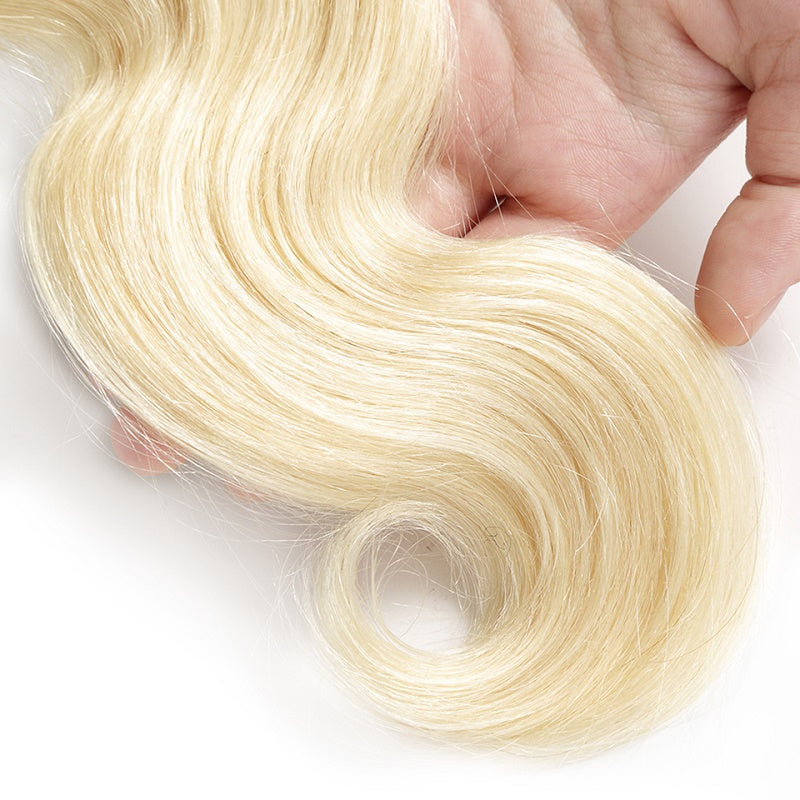 10A Virgin 613 Blonde Brazilian Body Wave 1 Bundle Human Hair Weave 105g
