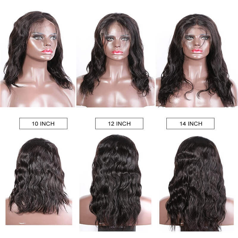 13x4 Short Bob Body Wave Lace Front Human Hair Wig Pre Plucked With Baby Hair For Women