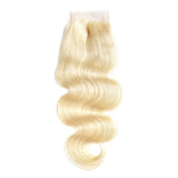 10A Virgin 613 Blonde Body Wave 4x4 Lace Closure 130% Density Closure