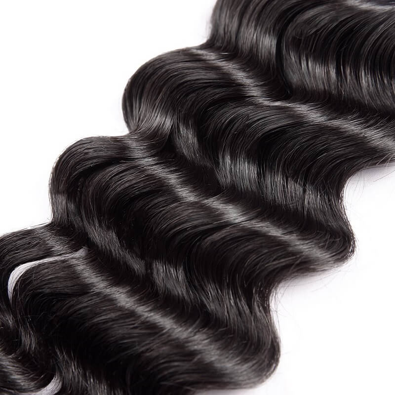 [Abyhair 10A] Natural Wave Human Hair 1 Bundle Unprocessed Virgin Hair Weave 105g