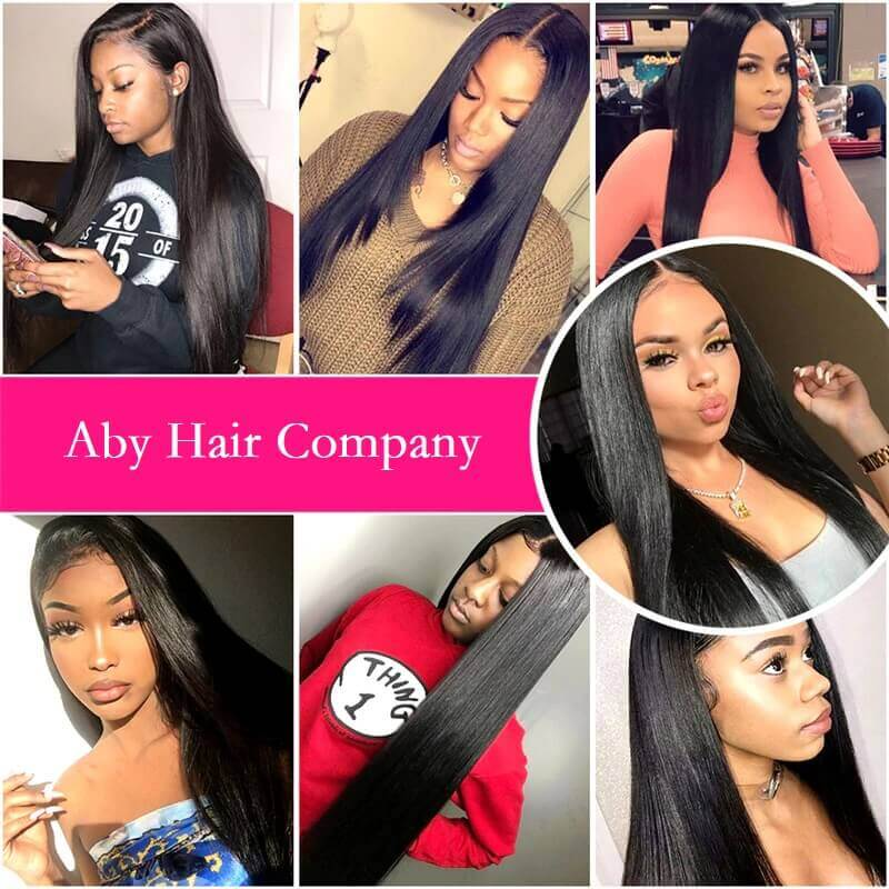 [Abyhair 10A] Straight Human Hair 1 Bundle Unprocessed Virgin Hair Weave 105g