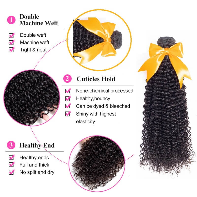 [Abyhair 8A] Brazilian Mongolian Kinky Curly Hair 1 Bundle Human Remy Hair Weave 105g