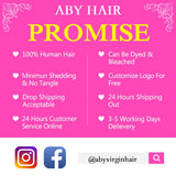 [Abyhair 10A] Peruvian Human Straight Hair 3 Bundles With 4x4 Lace Closure Free Part
