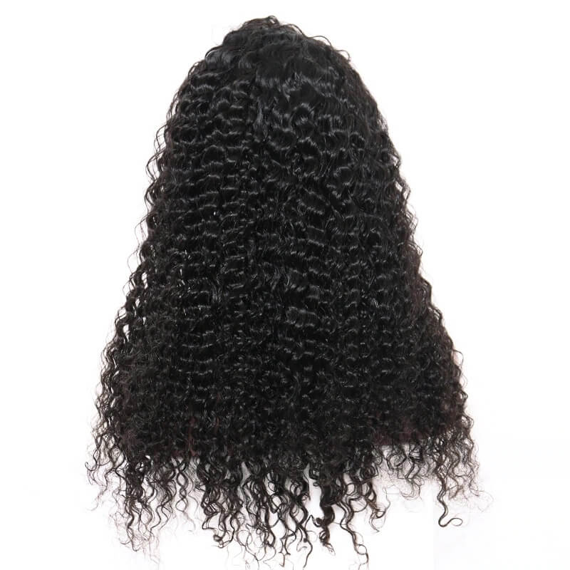 250% Density Deep Curly 13x4 Lace Front Human Hair Wig Pre Plucked With Baby Hair For Women