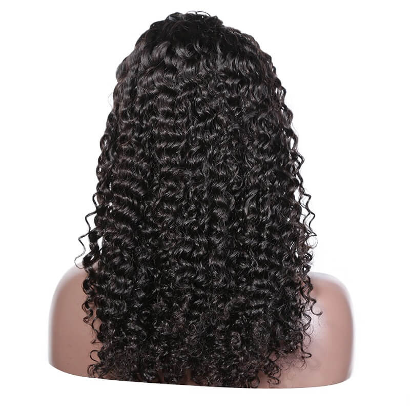 Deep Curly Glueless Full Lace Human Hair Wigs Bleached Knots Pre Plucked Hairline With Baby Hair