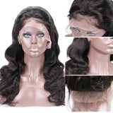 Body Wave Full Lace Human Hair Wigs Natural Hairline Pre Plucked With Baby Hair