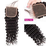 10A Virgin Deep Wave 4x4 Lace Closure 130% Density Human Hair