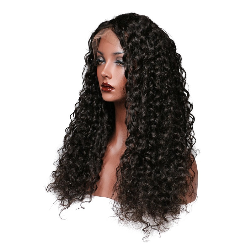 Deep Wave 13x4 Lace Front Human Hair Wig Pre Plucked With Baby Hair For women
