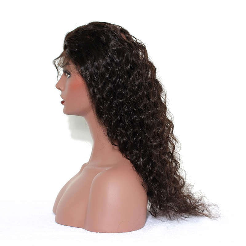 8A Virgin Loose Wave 360 Lace Frontal Natural Hairline Pre Plucked With Baby Hair