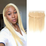8A Virgin 613 Blonde Straight 13x4 Lace Frontal Closure With Baby Hair