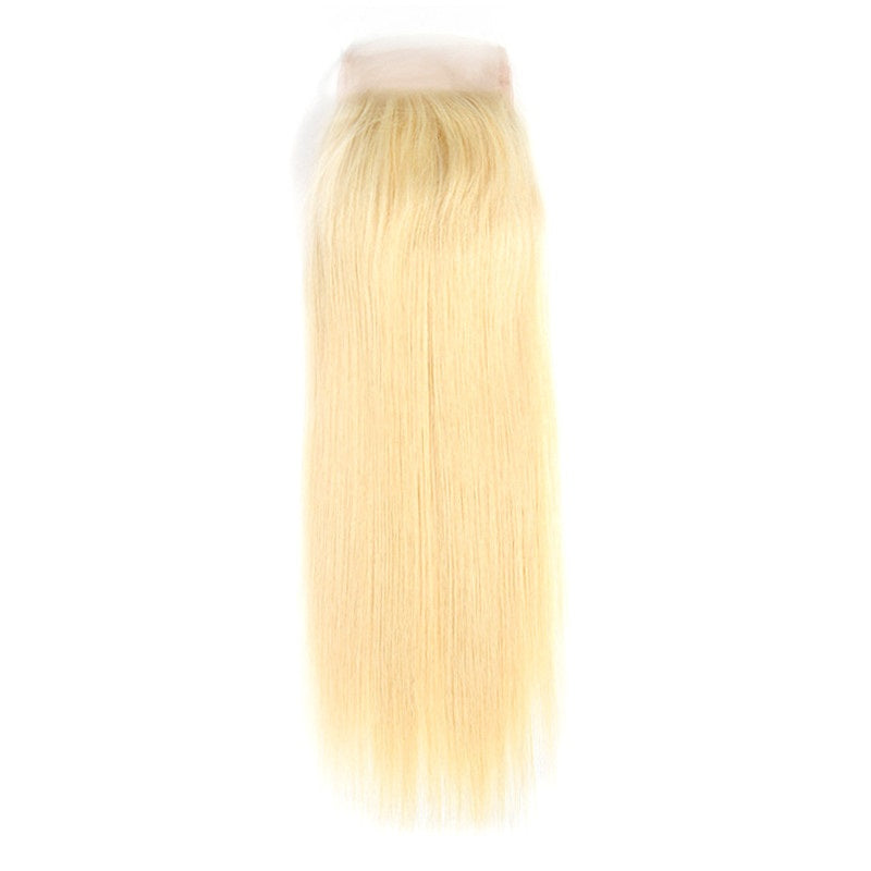 9A Virgin 613 Blonde Straight 4x4 Lace Closure Free Part Swiss Lace Closure