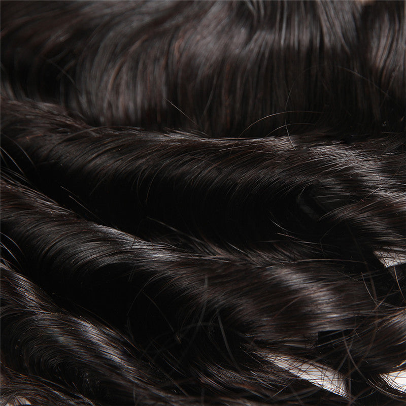 8A Remy Loose Wave 13x4 Ear To Ear Lace Frontal Closure Free Part With Baby Hair