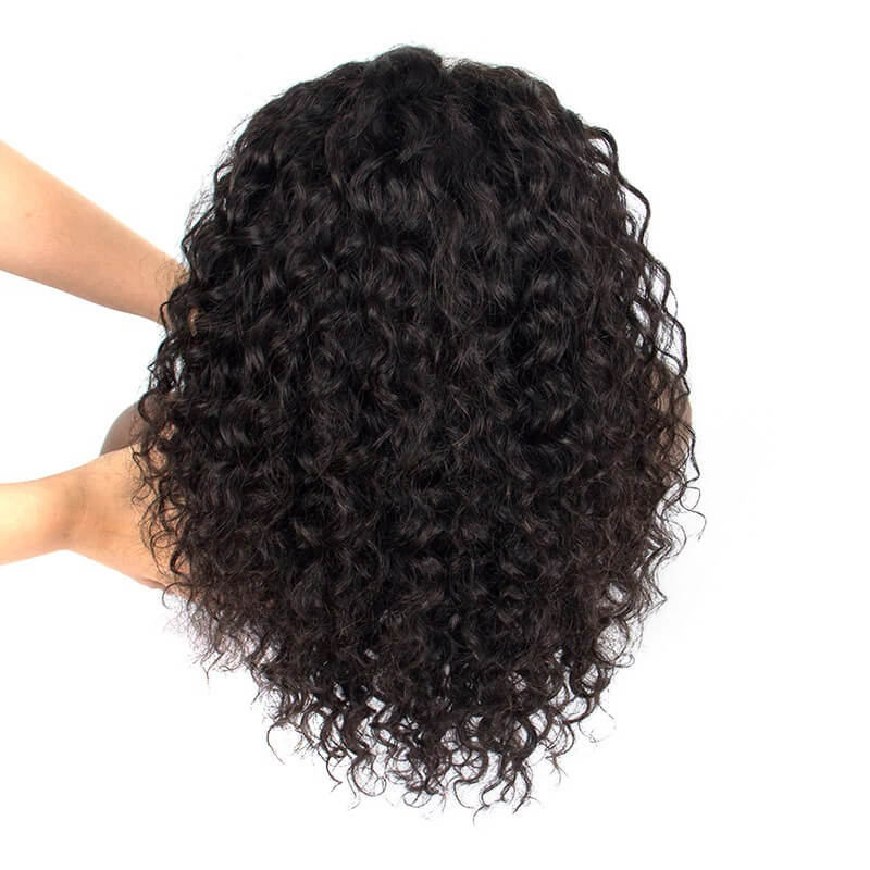 Short Bob 13x6 Deep Curly Lace Front Human Hair Wigs Pre Plucked With Baby Hair For Women