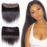 10A Virgin Straight Hair 13x4 Ear to Ear Lace Frontal Closure 130% Density