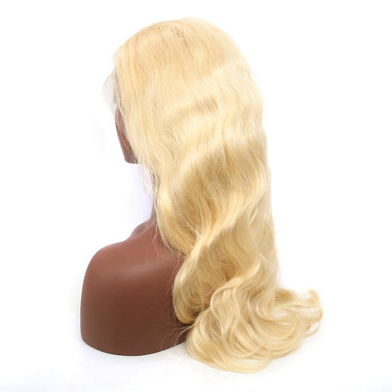 13x6 HD Transparent 613 Blonde Body Wave Lace Front Human Hair Wigs