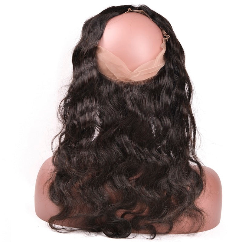 8A Virgin Body Wave 360 Lace Frontal Natural Hairline Pre Plucked With Baby Hair