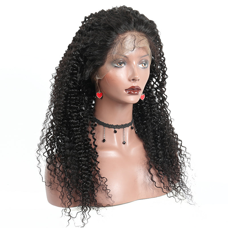 34fa05c57bf Kinky Curly 360 Lace Frontal Human Hair Wig Pre Plucked With Baby ...