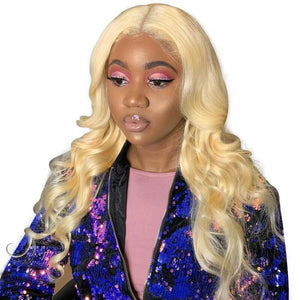 613 Blonde 13x4 Lace Front Wigs Body Wave Human Hair Pre Plucked With Baby Hair