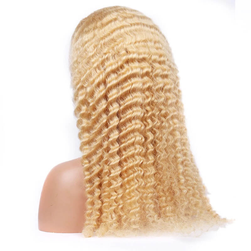 613 Blonde 13x6 Lace Front Wig Transparent Deep Wave Human Hair Wigs With Baby Hair