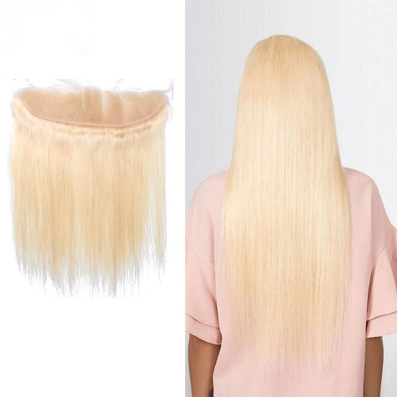 9A Virgin 613 Blonde Straight 13x4 Lace Frontal Closure Free Part