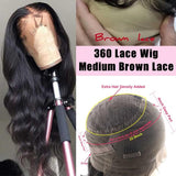 Body Wave Fake Scalp Wig 360 Lace Frontal Human Hair Wigs