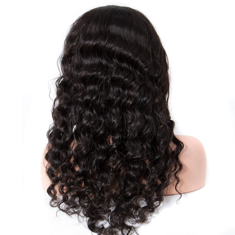 Loose Deep Wave 360 Lace Frontal Wig Natural Hairline Pre Plucked With Baby Hair