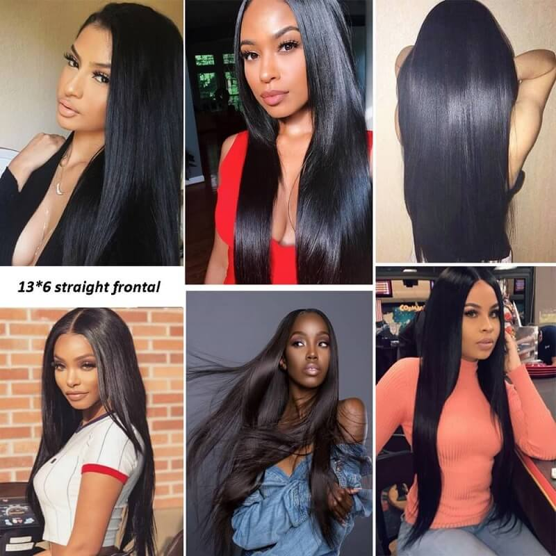 [Abyhair 10A] Straight 13x6 Ear To Ear Lace Frontal Closure Free Part With Baby Hair