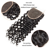 "[Abyhair 8A] Deep Wave 4""x4""  Lace Closure Pre Plucked with Baby Hair"