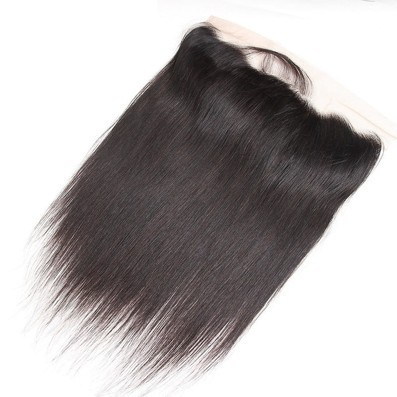 9A Virgin Straight Hair 13x4 Lace Frontal Closure Free Part With Baby Hair