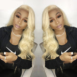 613 Full Lace Wig Honey Blonde Brazilian Body Wave Human Hair Pre-Plucked with Baby Hair