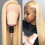 HD Transparent 613 Blonde Straight 13x6 Lace Front Human Hair Wigs