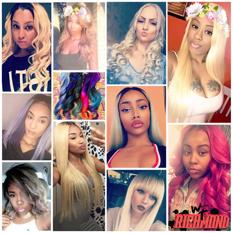 "10A Virgin 613 Blonde Brazilian Straight 4 Bundles With Lace Frontal 13""x4"" Free Part Closure"