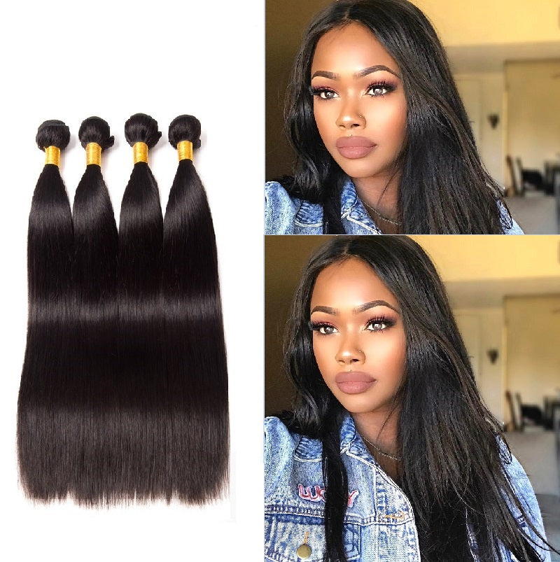 [Abyhair 9A] 4 Bundles Brazilian Straight Hair Weave Human Hair Weft