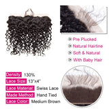 [Abyhair 9A] Water Wave Hair Closure 13x4 Free Part Closure 130% Density