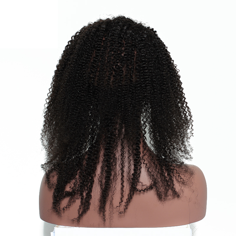 8A Virgin Afro Kinky Curly 360 Lace Frontal Natural Hairline Pre Plucked With Baby Hair