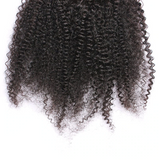 10A Virgin Afro Kinky Curly 13x4 Ear To Ear Lace Frontal Closure With Baby Hair