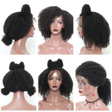 Afro Kinky Curly Lace Front Wig With Baby Hair Short Bob Human Hair Wigs For Women