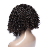13x4 Short Bob Curly Lace Front Human Hair Wig Pre Plucked With Baby Hair For Women