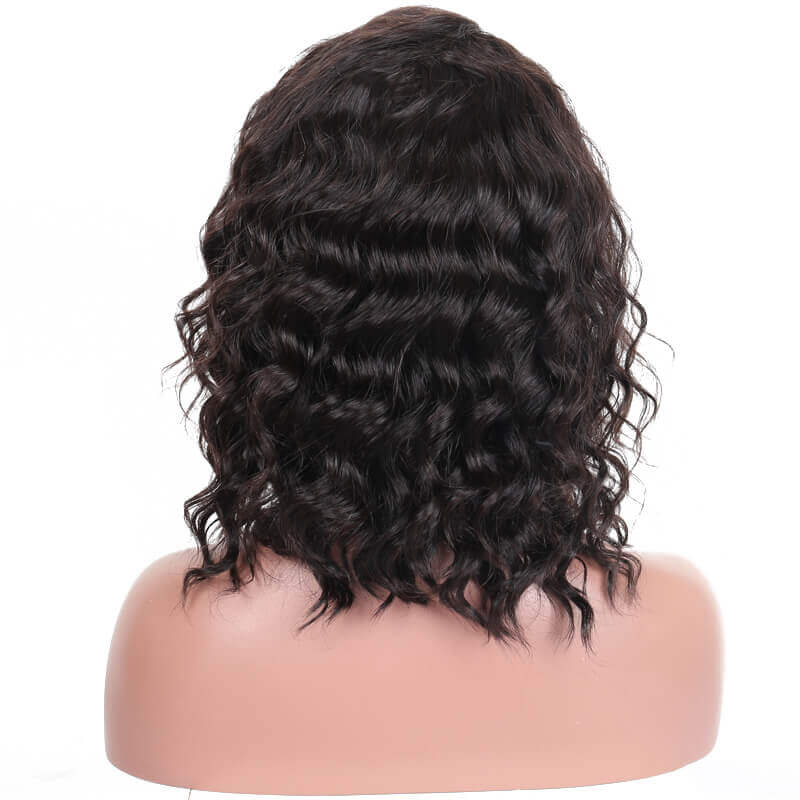 13x6 Short Bob Loose Wave Lace Front Human Hair Wig Pre Plucked With Baby Hair For women