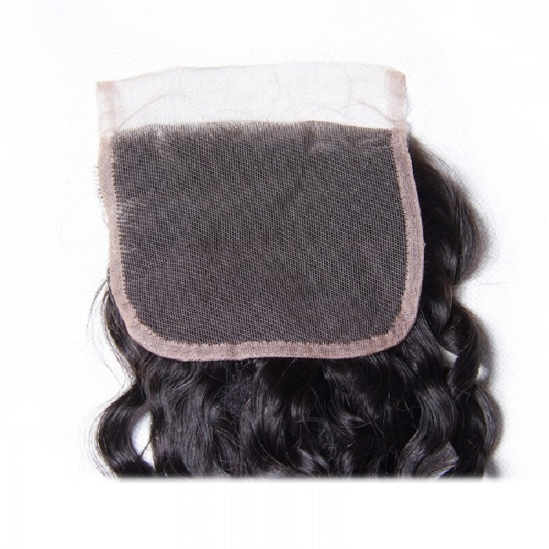 "[Abyhair 8A] Water Wave 4""x4"" Lace Closure Pre Plucked with Baby Hair"