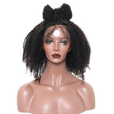 Afro Kinky Curly Wig Glueless Full Lace Human Hair Wigs Pre Plucked With Baby Hair