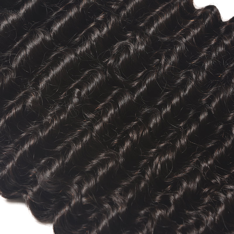 [Abyhair 9A] 3 Bundles Malaysian Deep Wave Hair Weft Human Hair Weave