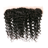[Abyhair 10A] Brazilian Deep Wave 3 Bundles With 13x 4 Lace Frontal Closure With Baby Hair