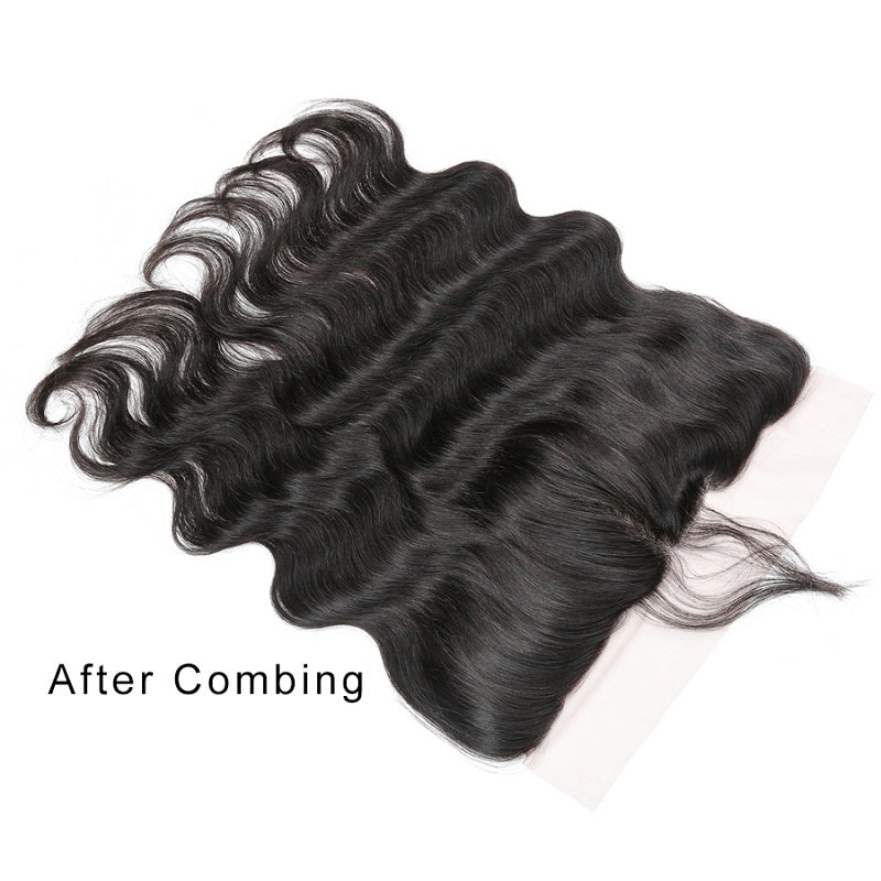 8A Remy Body Wave 13x4 Ear To Ear Lace Frontal Closure Free Part With Baby Hair
