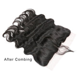 [Abyhair 10A] Indian Body Wave 3 Bundles With 13x 4 Lace Frontal Closure With Baby Hair
